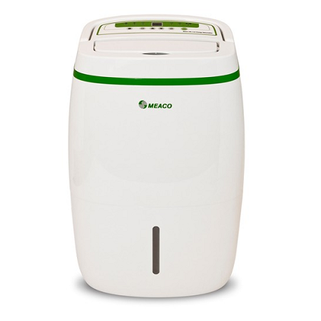 Photo of White/Green trim Meaco 20L 4-5 Bedrooms Platinum Range  Low Energy Dehumidifier
