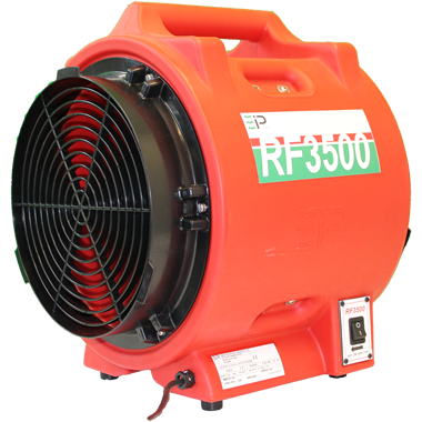 Photo of Red Ebac Power Fan RF3500 110v Cooling & Ventilation Fan