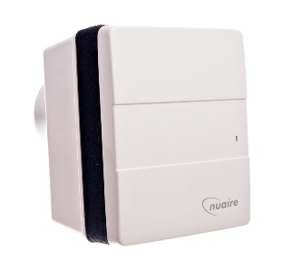 Photo of N/A NUAIRE GENIE-DC-S12 UNIVERSAL TOILET 12 VOLT EXT FAN & TIMER ON/OFF BY LIGHT OR REMOTE SWT. REMOTE SWITCH BY OTHERS WITH ADJUSTABLE RUN ON TIMER 5- 30 mins.12volt OPERATION VIA TRANSFORMER PROVIDED. C/W DC MOTOR